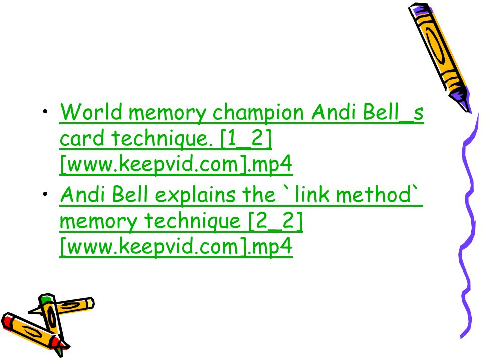 World memory champion Andi Bell_s card technique. [1_2] [www. keepvid